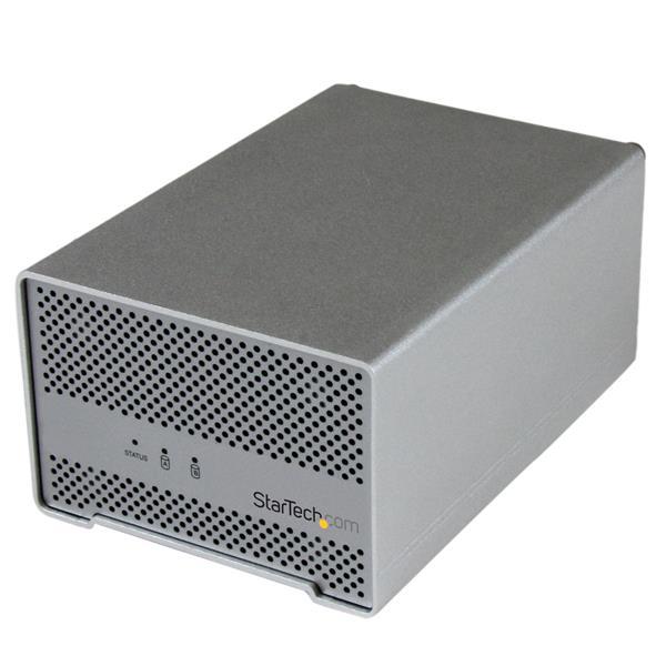 StarTech.com 2,5 Dual SATA III Thunderbolt Festplattengehäuse mit Lüfter