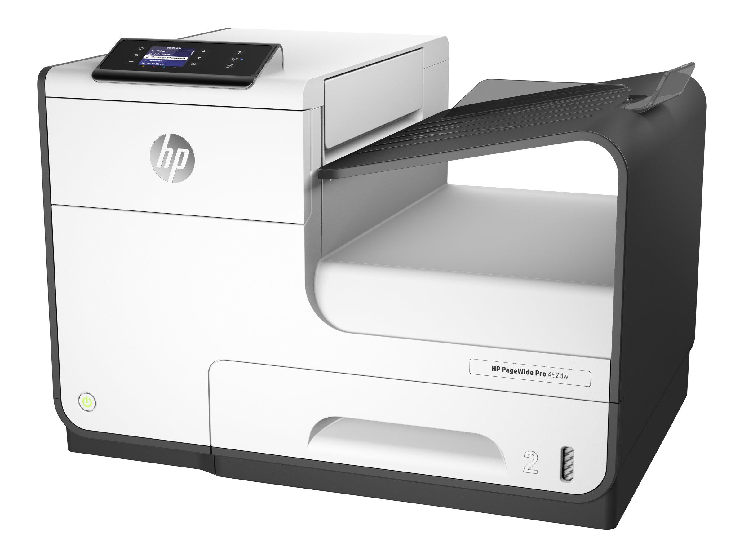 HP PageWide Pro 452dw - Drucker - Farbe - Duplex - seitenbreite Palette - A4/Legal - 1200 x 1200 dpi - bis zu 55 Seiten/Min. (einfarbig)/