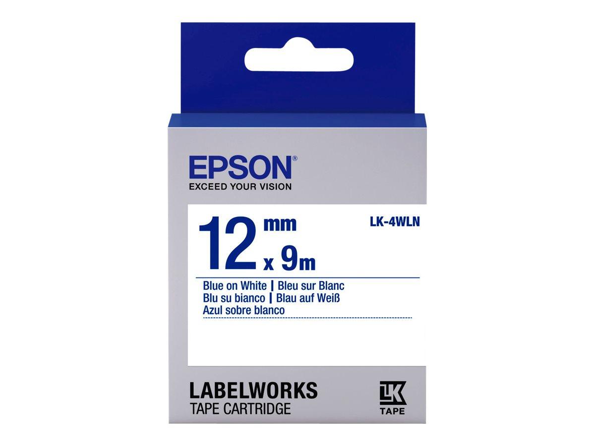 Epson LabelWorks LK-4WLN - Blau auf weiß