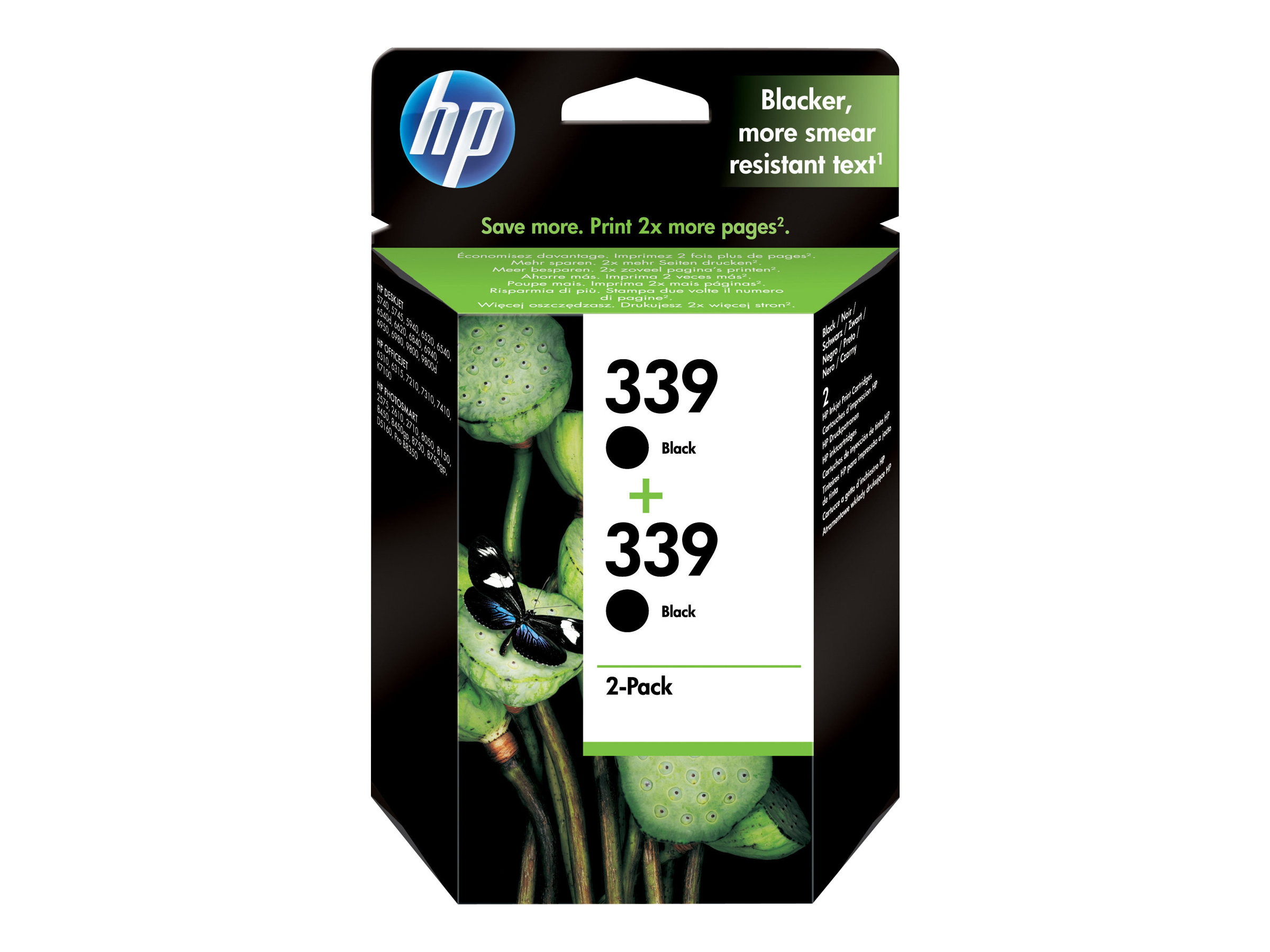 HP Tinte black Nr. 339 (C9504EE) ca. 860 Seiten, Doppelpack