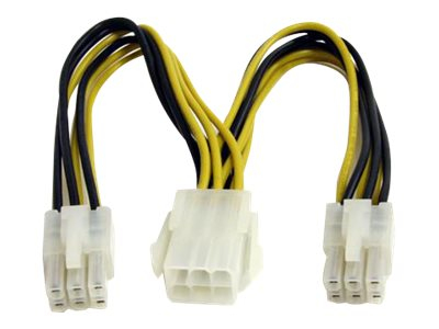 15cm 6pin PCI Express Splitter Kabel - PCIe Adapterkabel - Netz-Splitter - 6-poliges PCIe Power (M)