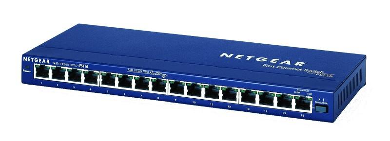Netgear ProSafe FS116 10/100 DESKTOP SWITCH - Switch - 100 Mbps - 16-Port 3 HE - Extern