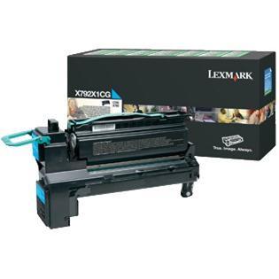 Lexmark X792X1CG Lasertoner 20000Seiten Cyan Lasertoner / Patrone