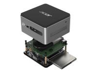 Revo VEN76G 2,7 GHz Intel® Core i3 der siebten Generation i3-7130U Schwarz - Grau Kleiner Desktop Mini-PC