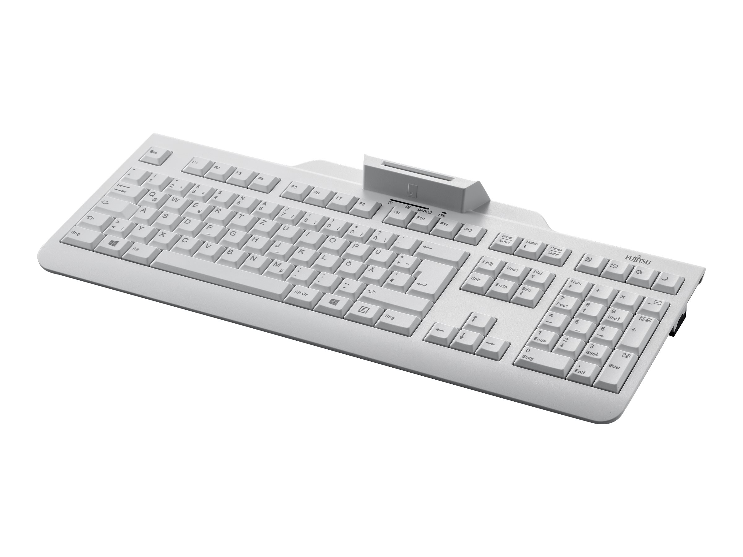 Fujitsu KB 100 SCR - Tastatur - USB - Nordisch