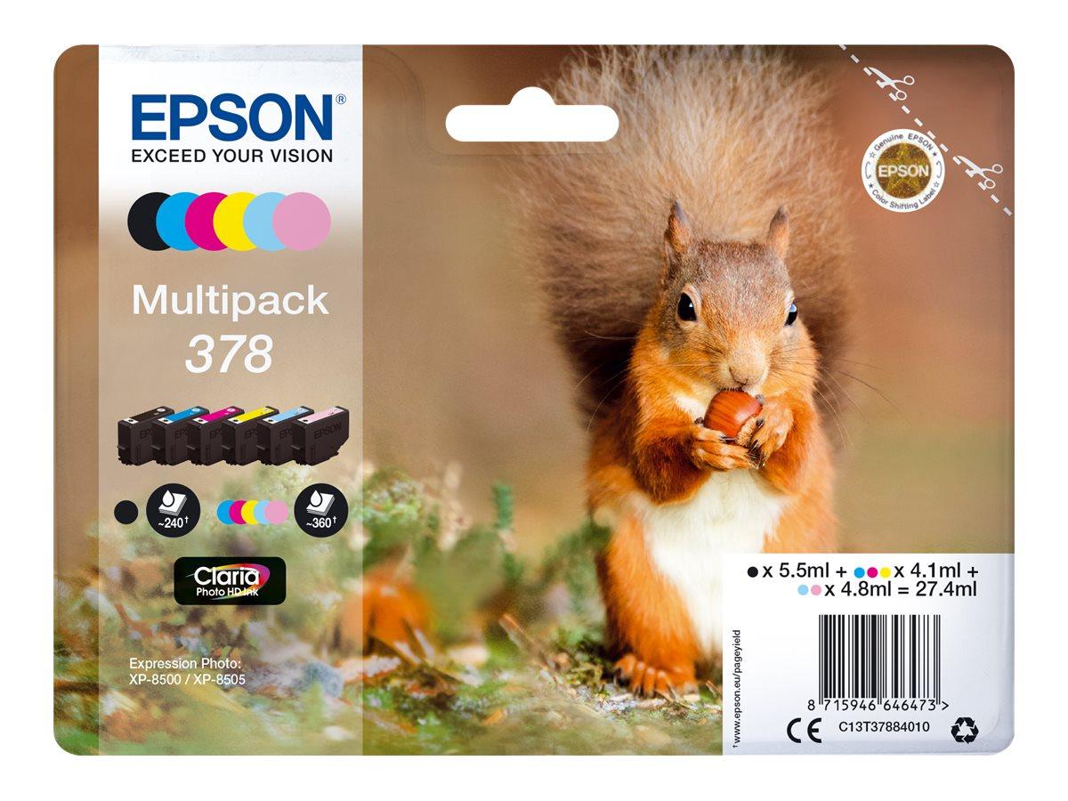 Epson Tinte Multipack 378 black/cyan/magenta/yellow/light magenta/light cyan 5.5 ml black/4.1ml col.