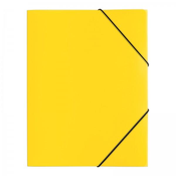 Pagna PP 12 - Präsentationsmappe - A4 - Polypropylen (PP) - Gelb - Landschaft - Druckknopf