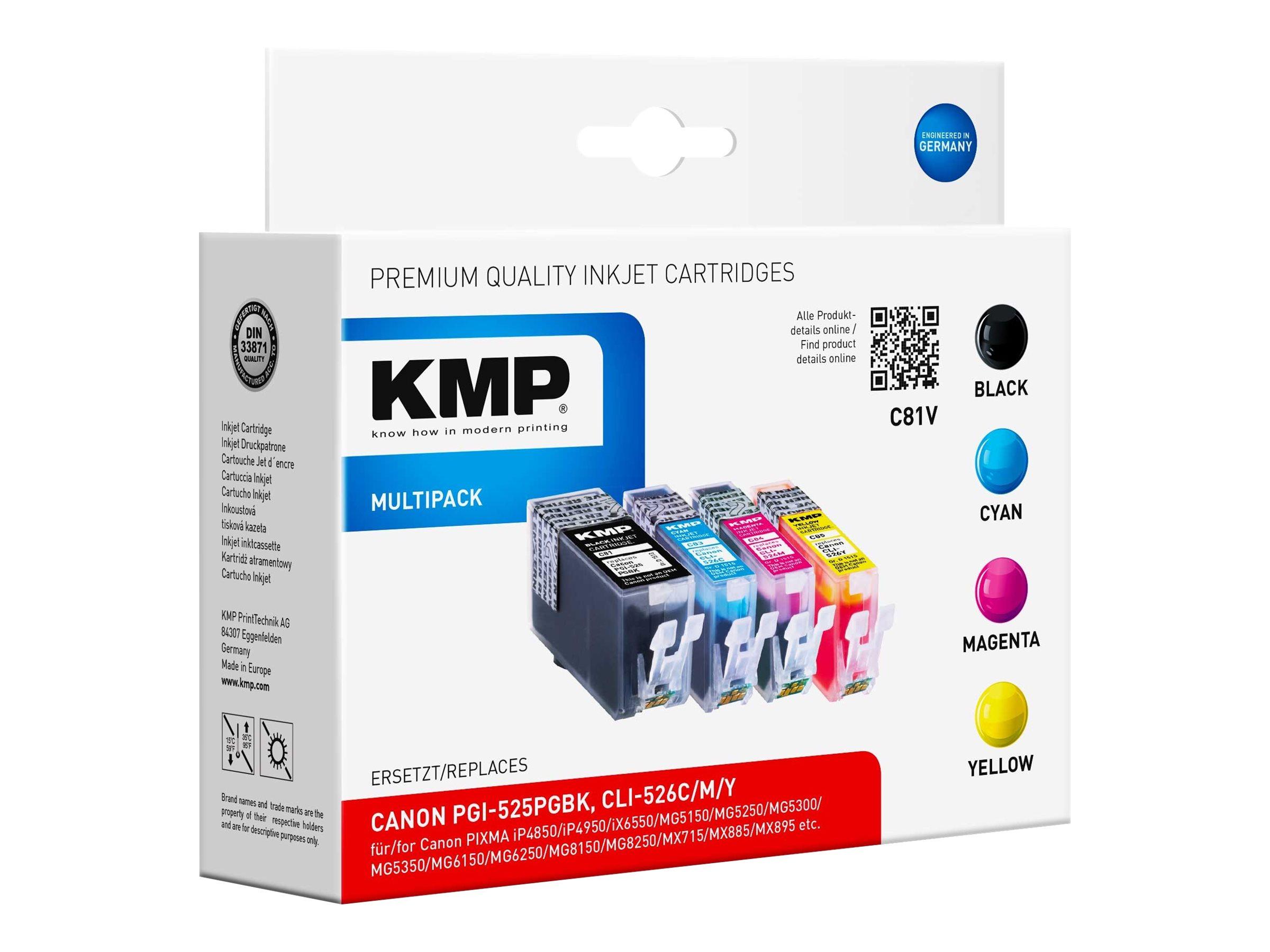 KMP MULTIPACK C81V - 4er-Pack - Schwarz, Gelb, Cyan, Magenta