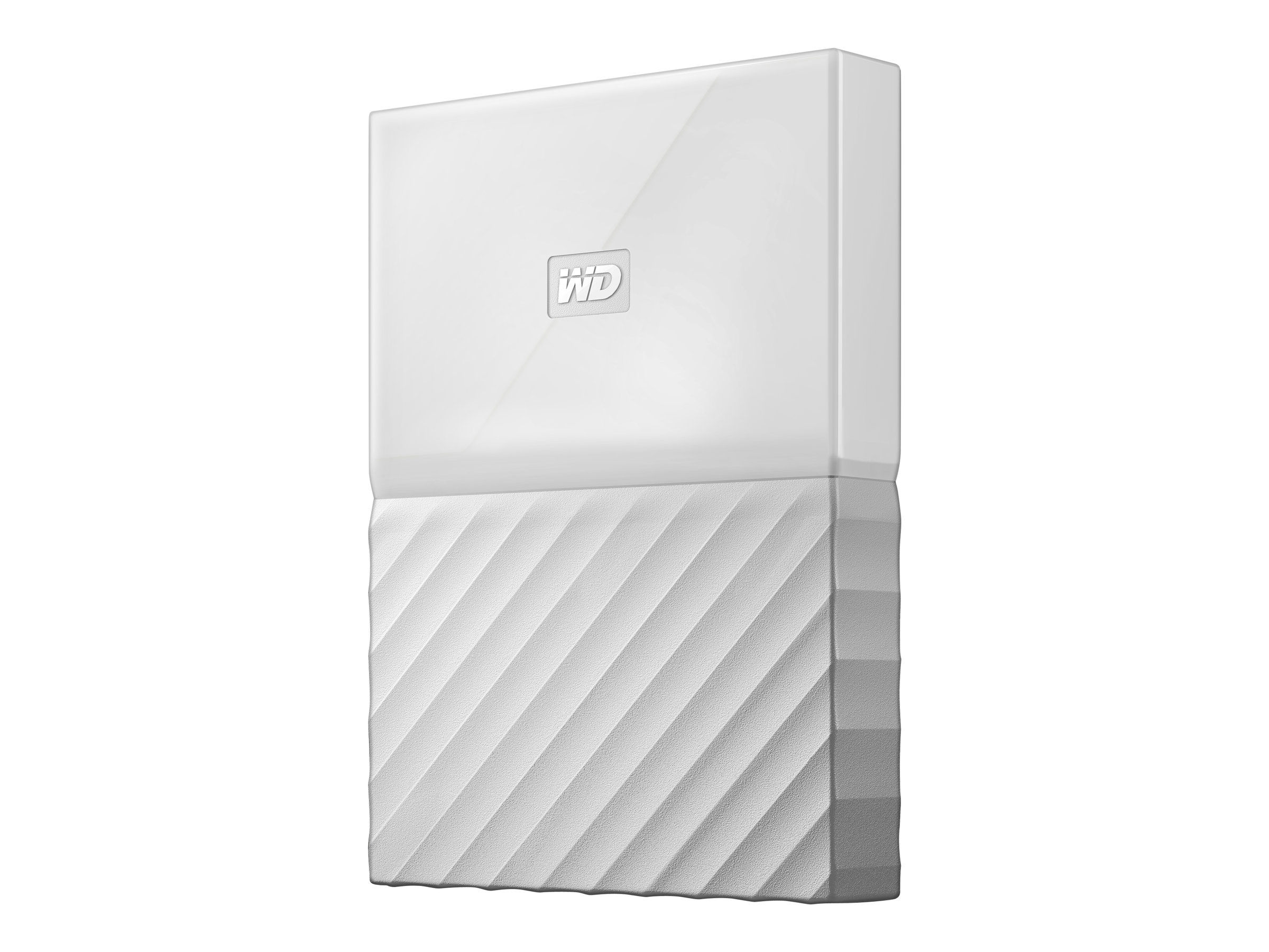 WD My Passport WDBS4B0020BWT - Festplatte - verschlüsselt - 2 TB - extern (tragbar) USB 3.0 - 256-Bit-AES - weiß