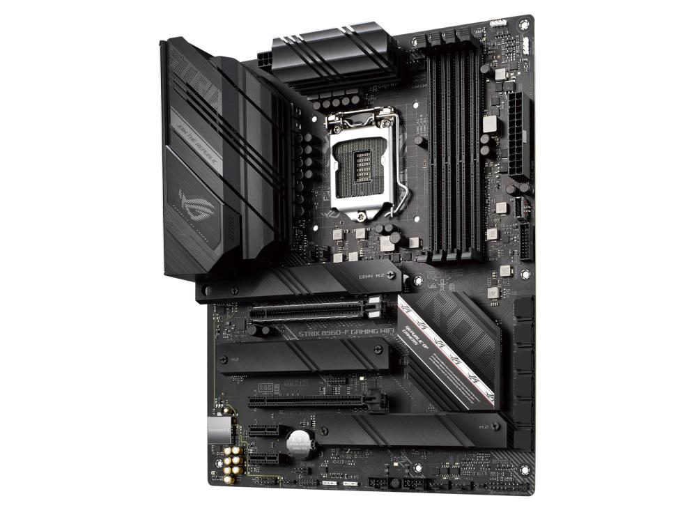 ASUS ROG STRIX B560-F GAMING WIFI - Motherboard - ATX - LGA1200-Sockel - B560 - USB-C Gen1, USB 3.2 Gen 1, USB 3.2 Gen 2, USB-C Gen 2x2 - 2.5 Gigabit LAN, Wi-Fi - Onboard-Grafik (CPU erforderlich)