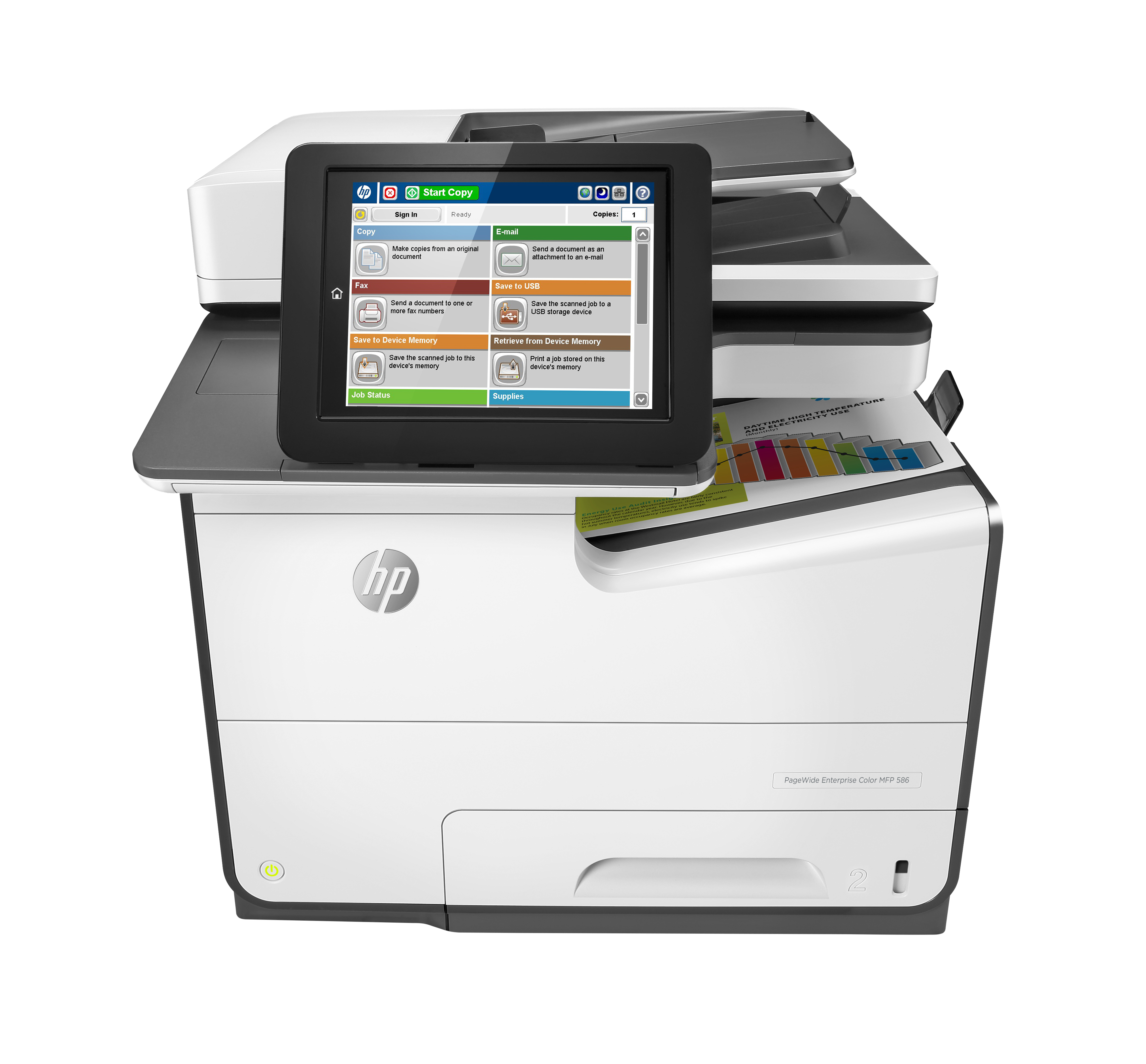 HP PageWide Enterprise Color MFP 586f - Multifunktionsdrucker - Farbe