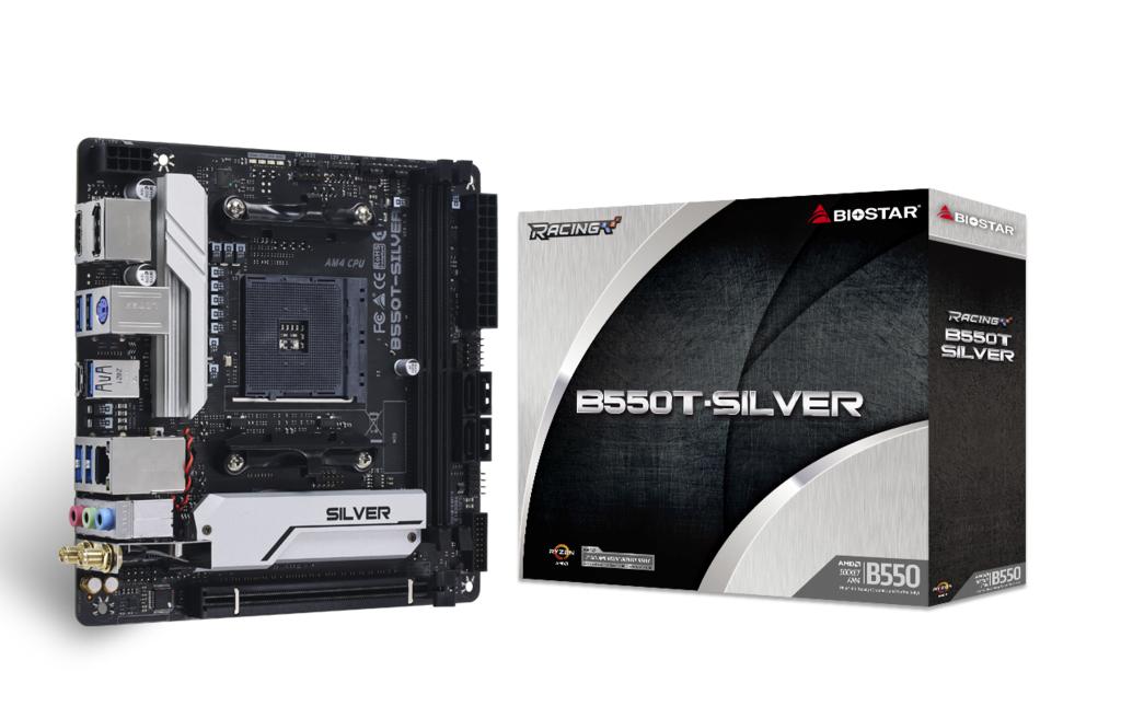 Biostar MB B550T-Silver B550 AM4 mITX AMD