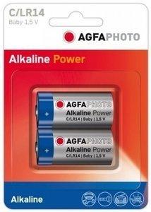 AgfaPhoto 110-802626 - Einwegbatterie - C - Alkali - 1,5 V - 2 Stück(e) - Blau - Grau