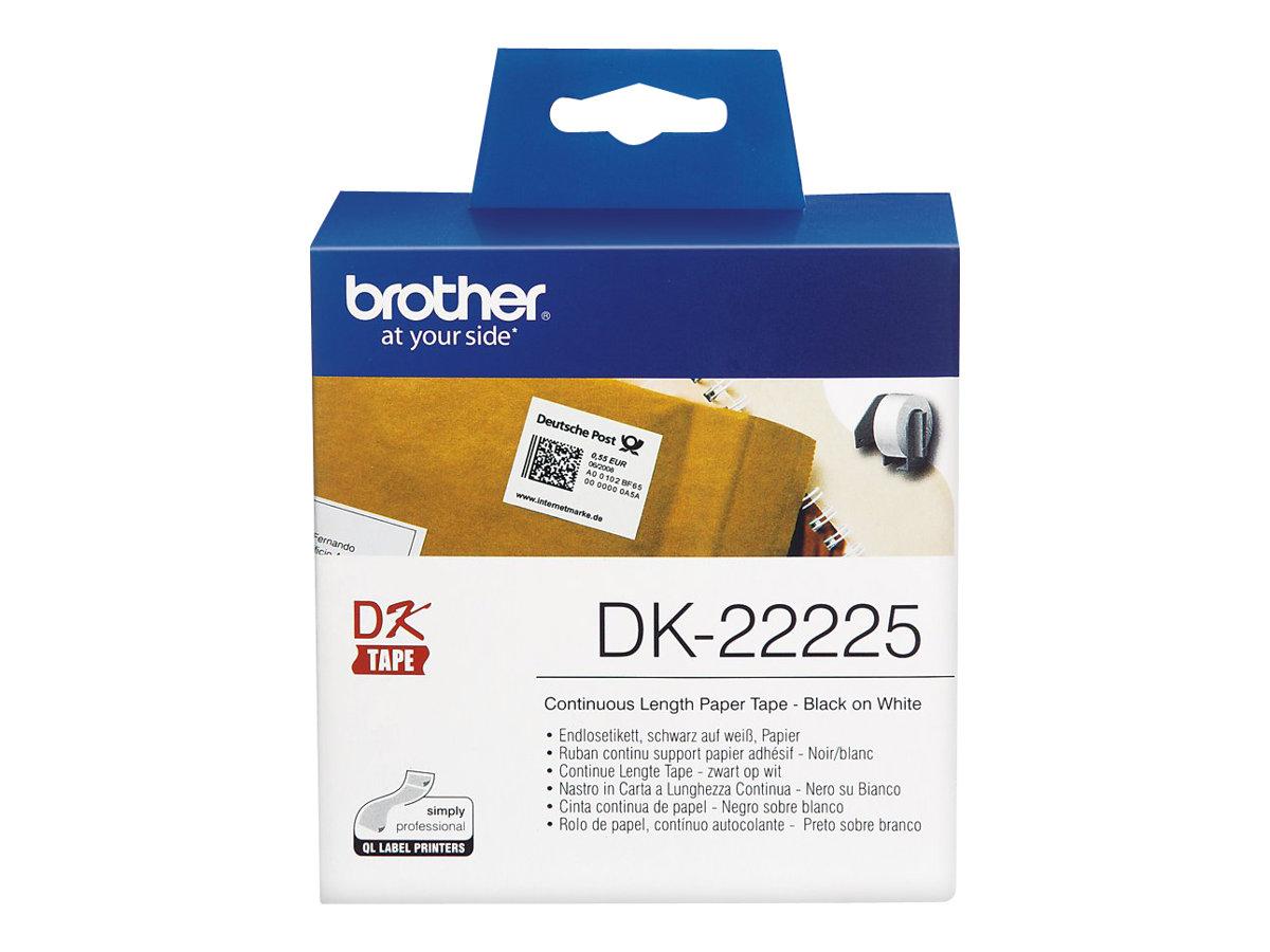Brother DK-22225 - Papier - Schwarz auf Weiß - Rolle (3,8 cm x 30,5 m)