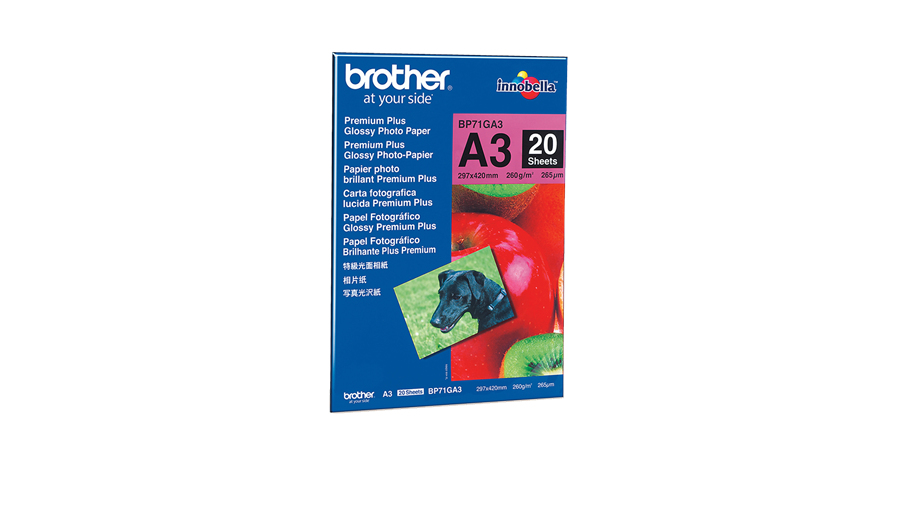 Brother DIN A3-Glanzpapier A3 Foto-Papier - 260 g/m² - 297x420 mm - 20 Blatt