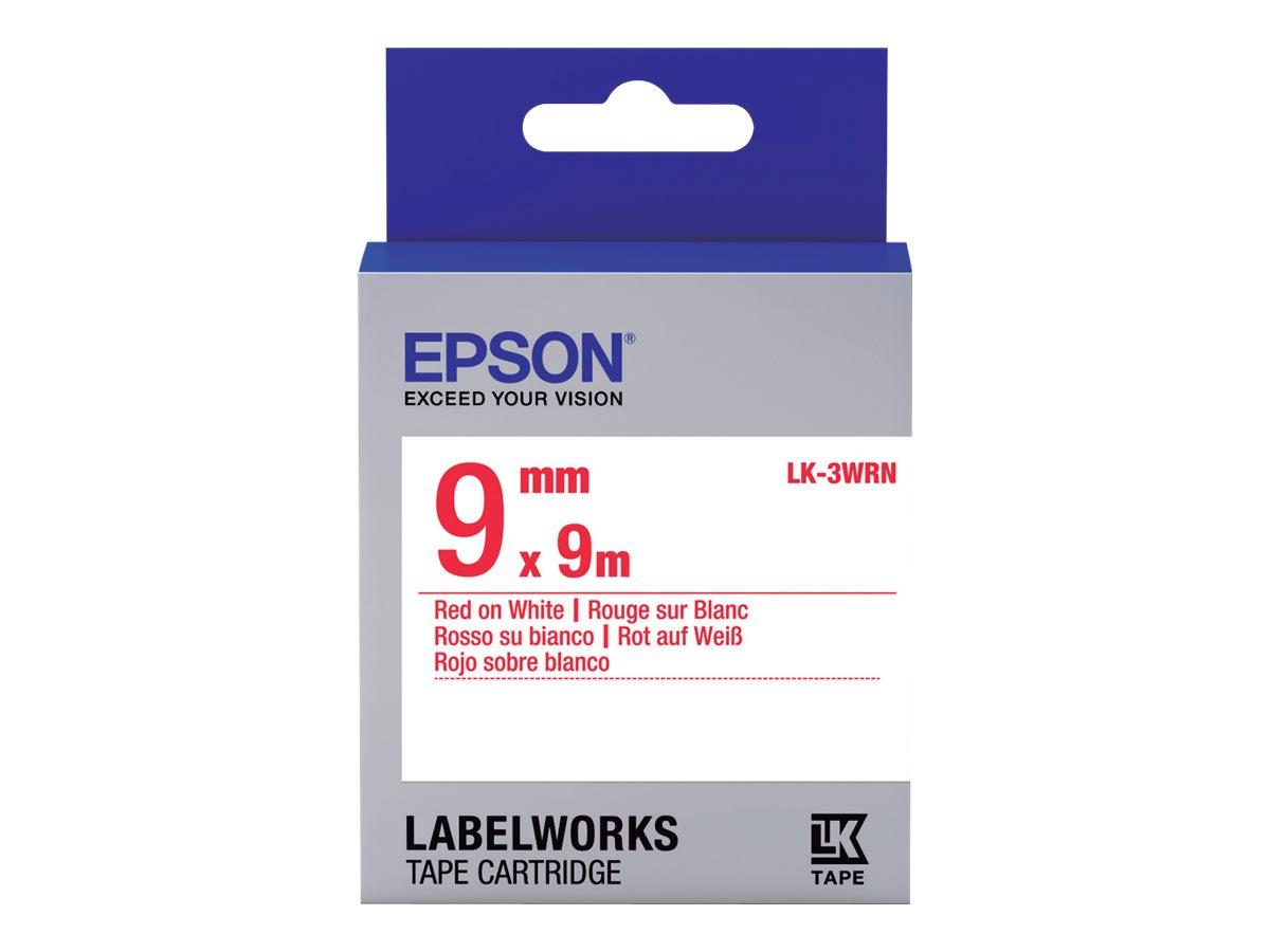 Epson LabelWorks LK-3WRN - Rot auf Weiß