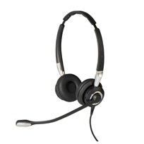 Jabra Biz 2400 II QD Duo NC Wideband Balanced Binaural Kopfband Schwarz - Silber Headset