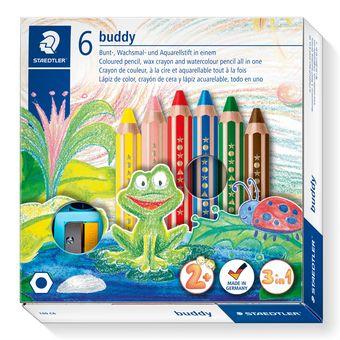 STAEDTLER Farbstift buddy 3in1 6er Kartonetui - Weich - Mehrfarben - 6 Stück(e)