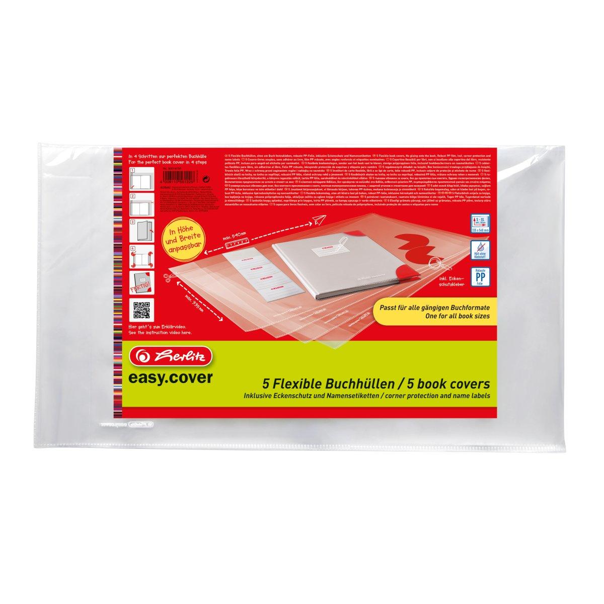 Vorschau: Herlitz 50014750 - Transparent - Polypropylen (PP) - Junge/Mädchen - 340 mm - 584 mm - 5 Stück(e)